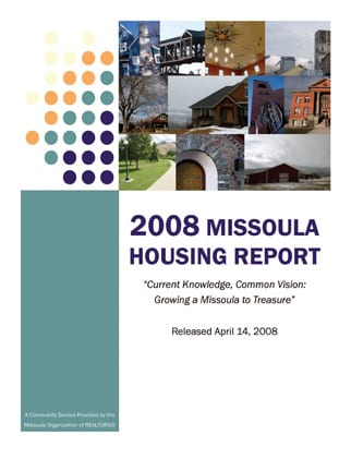 Cover Page, 2008 Missoula Housing Report