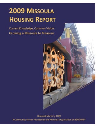 Cover Page, 2009 Missoula Housing Report