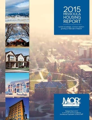 Cover Page, 2015 Missoula Housing Report