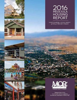Missoula's housing situation has improved greatly in many ways in the last few years, rebounding from the burst of the housing bubble. In 2015, sales were up, foreclosures were down, interest rates stayed low,and the market value of homes continued to increase. However, that strong real estate market, coupled with a growing population, also brings with it affordability and housing supply challenges.   Both the number of sales and the median price of a home increased in 2015, with the median price hitting an all-time high of $238,700. Prospective homebuyers found a tight supply of affordable houses in Missoula, and many buyers opted to build instead, with lots sales and the median price of residential lots also increasing in 2015.   The Missoula housing market still faces a number of other challenges, mostly having to do with affordability and available supply. While several organizations are working hard to alleviate issues of affordability and homelessness, the demand for their services remains significant. The waitlist for Section 8 vouchers increased by 8 percent in 2015, and the homeless population was estimated to be around 500 people.   As the county's population increases by about 1 percent each year, housing demand also grows. Missoula's vacancy rate for rentals remains relatively low, and the cost of rent continues to increase. However, most of Missoula's building permits in 2015 went towards multi-family units, which may help address the growing population.   Meanwhile, the data show that 54.3 percent of renters and 27.2 percent of homeowners spend more than 30 percent of their income on housing costs. (Ideally, they should spend no more than 25% of their income on housing.) This shows that Missoula still has a significant population that struggles to find affordable housing.   Overall, 2015 statistics showed many positive trends for the Missoula housing market and the economy, but they also highlighted a number of challenges for buyers and renters. With strong programs working on affordability and homelessness issues, it is clear that Missoula is striving to create a vibrant community that we can all call home.